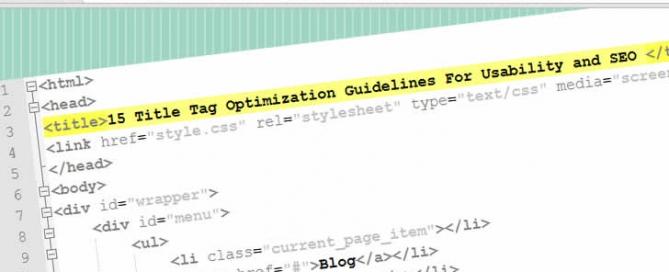 Title Tags Optimization