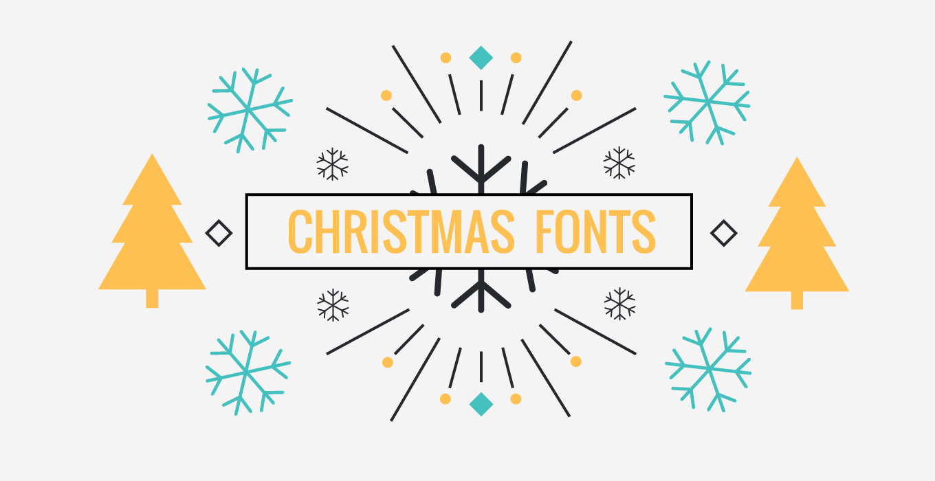 5 best fonts for christmas themed designs